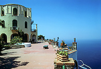 Italy: Capri--Hotel Caesar Augustus, Anacapri. Terrace and sea. Photo '83.