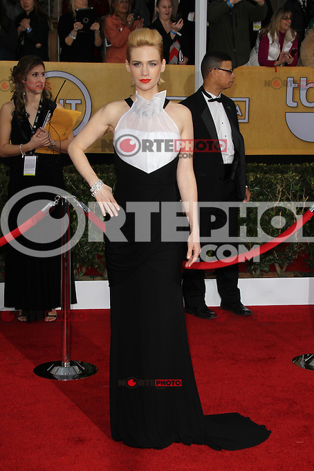 LOS ANGELES, CA - JANUARY 27: January Jones at The 19th Annual Screen Actors Guild Awards at the Los Angeles Shrine Exposition Center in Los Angeles, California. January 27, 2013. Credit: mpi27/MediaPunch Inc. /NortePhoto