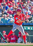 6 March 2016: Washington Nationals outfielder Matt den Dekker in action during a Spring Training pre-season game against the St. Louis Cardinals at Roger Dean Stadium in Jupiter, Florida. The Nationals defeated the Cardinals 5-2 in Grapefruit League play. Mandatory Credit: Ed Wolfstein Photo *** RAW (NEF) Image File Available ***
