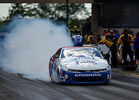 Jul 9, 2016; Joliet, IL, USA; NHRA pro stock driver Shane Gray during qualifying for the Route 66 Nationals at Route 66 Raceway. Mandatory Credit: Mark J. Rebilas-USA TODAY Sports