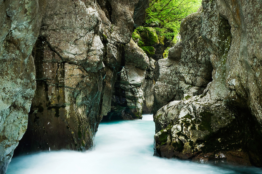 River Soca (&quot;Velika korita&quot;, &quot;Grand Canyon&quot;)<br /> Triglav National Park, Slovenia<br /> July 2009
