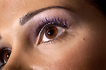 Mix mascaras for evening eye apeal; here Vamp is used as a first layer and tipped with Ocean Blue.  Both mascaras are by Chanel.  Erik Kellar