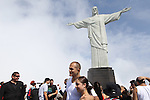 August 25, 2011: UFC 134 in Rio - Royce Gracie &amp; Junior Dos Santos at Cristo Redentor