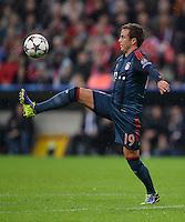 FUSSBALL   CHAMPIONS LEAGUE   SAISON 2013/2014   Vorrunde FC Bayern Muenchen - FC Viktoria Pilsen       23.10.2013 Mario Goetze (FC Bayern Muenchen) am Ball