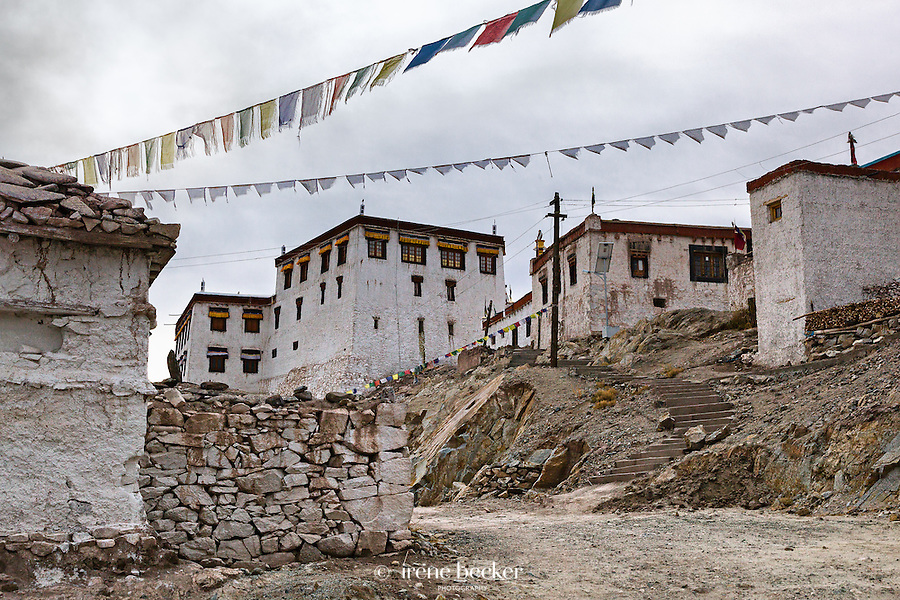 Streets of Stakna Monastery or Stakna Gonpa. Ladakh,  Jammu and Kashmir, India.
