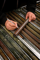 Mining core samples. <br />