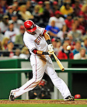 29 September 2010: Washington Nationals infielder Ian Desmond in action against the Philadelphia Phillies at Nationals Park in Washington, DC. The Phillies defeated the Nationals 7-1 to take the rubber game of their 3-game series. Mandatory Credit: Ed Wolfstein Photo