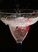 Royalty free stock photos of sparkling refreshing drink and cherry