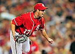 28 August 2010: Washington Nationals pitcher Sean Burnett on the mound in relief against the St. Louis Cardinals at Nationals Park in Washington, DC. The Nationals defeated the Cards 14-5 to take the third game of their 4-game series. Mandatory Credit: Ed Wolfstein Photo