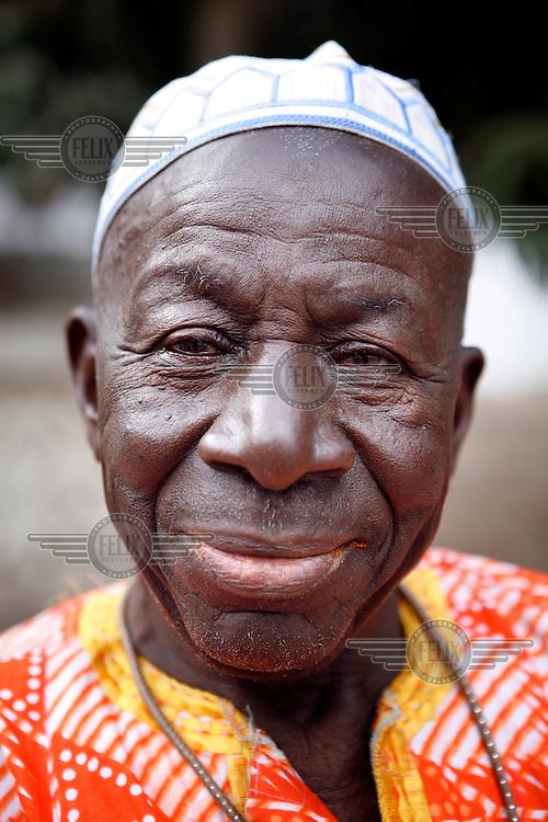 Portrait of a man in Gunjur.
