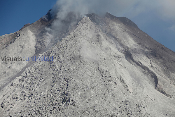 Andesitic lava dome and flow deposit near summit of Sinabung Volcano, Sumatra, Indonesia