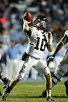 17 October 2015: Wake Forest's John Wolford. The University of North Carolina Tar Heels hosted the Wake Foresst University Demon Deacons at Kenan Memorial Stadium in Chapel Hill, North Carolina in a 2015 NCAA Division I College Football game. UNC won the game 50-14.