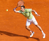 Juan Carlos FERRERO (ESP) against Jo-Wilfred TSONGA (FRA) in the third round. Juan Carlos Ferrero beat Jo-Wilfred Tsonga 6-1 3-6 7-5..International Tennis - 2010 ATP World Tour - Masters 1000 - Monte-Carlo Rolex Masters - Monte-Carlo Country Club - Alpes-Maritimes - France..© AMN Images, Barry House, 20-22 Worple Road, London, SW19 4DH.Tel -  + 44 20 8947 0100.Fax - + 44 20 8947 0117