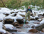 Personal Work<br /> <br /> Justin trout fishing on the middle prong of the Little River in the Great Smoking Mountains Tennessee November 4, 2014