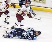 Chris Kreider (BC - 19), Tanner House (Maine - 29) - The Boston College Eagles defeated the visiting University of Maine Black Bears 4-1 on Sunday, November 21, 2010, at Conte Forum in Chestnut Hill, Massachusetts.