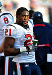1 November 2009: Houston Texans' running back Ryan Moats looks toward to scoreboard during a game against the Buffalo Bills at Ralph Wilson Stadium in Orchard Park, New York, United States of America. The Texans defeated the Bills 31-10. Mandatory Credit: Ed Wolfstein Photo