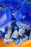 HEATING CUPRIC SULFATE PENTAHYDRATE SOLID<br /> (Variations Available)<br /> CuSO4*5H2O (Copper II Sulfate)<br /> Heated CuSO4<br /> 5H2O loses 2H2O at 30 deg C., 2 more H2O at 110 deg C. and becomes anhydrous by 250 deg C. changing color from blue to white.
