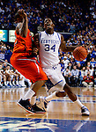 DeAndre Liggins drives the ball down court in the first half of UK's win over the Auburn Tigers at Rupp Arena on Jan. 11, 2011. Photo by Britney McIntosh | Staff