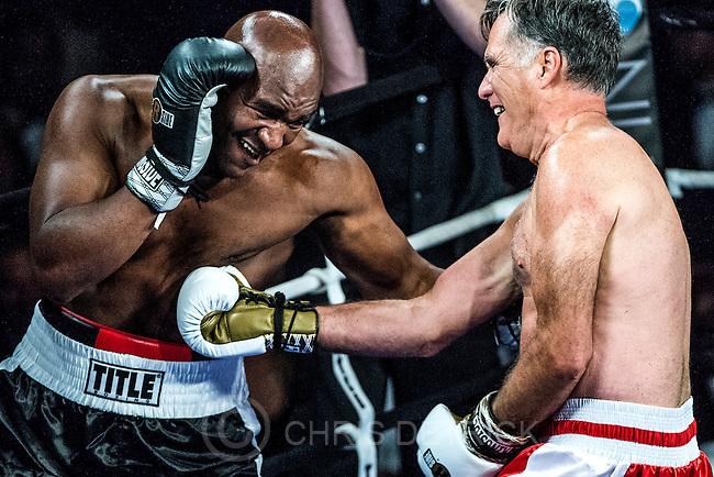 Mitt Romney Fights Evander Holyfield