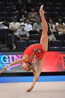 September 8, 2009; Mie, Japan;  Olga Kapranova of Russia performs with rope during qualification round at 2009 World Championships Mie. Olga was 2005 world champion at Baku, a 2008 Olympian for Russia at the Beijing Olympics. Photo by Tom Theobald. .
