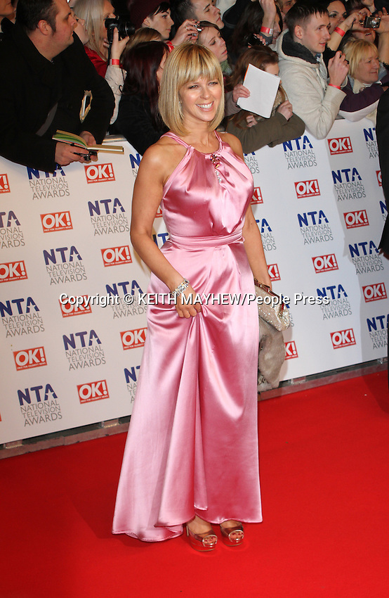 London - Red Carpet arrivals at the National Television Awards, the O2 Arena, London - January 25th 2012..Photo by Keith Mayhew