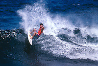 Ross Clarke Jones (AUS) surfing Devils Jetty during a trip to Reunion Island in 1989. Photo: joliphotos.com