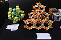 OrigamiUSA 2014 exhibition. Modular origami models designed by Jeannine Mosely