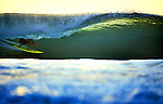 Surfing deep in an emerald barrel - Desert Point, Lombok, Indonesia