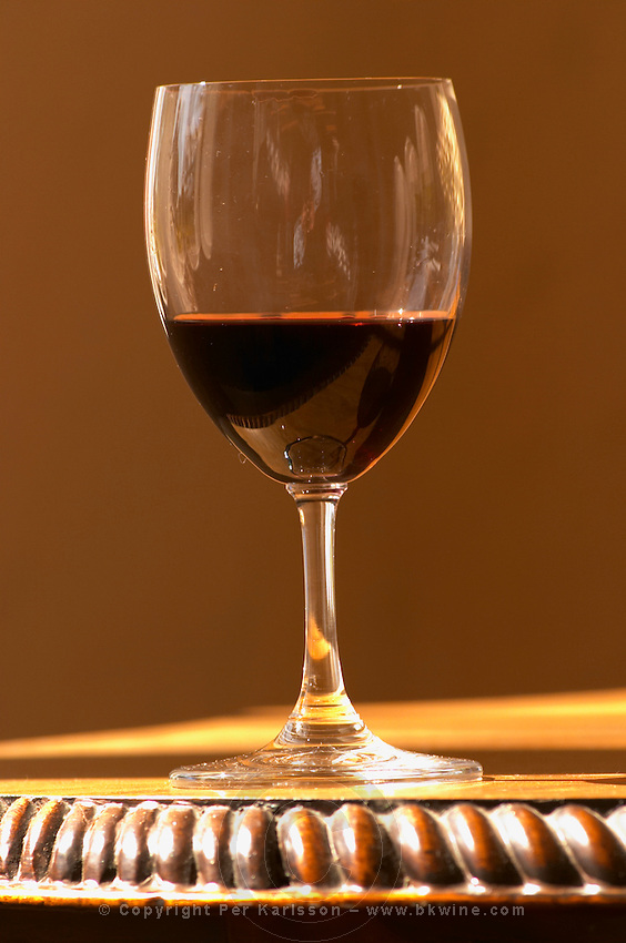 A glass of red Chateau Belgrave in sunlight  - Chateau Belgrave, Haut-Medoc, Grand Crus Classe 1855