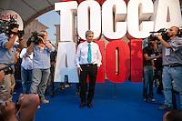 Roma 1 Ottobre 2011.Ora tocca a noi.Manifestazione nazionale di Sinistra, Ecologia, Libertà, a Piazza Navona..Nichi Vendola .