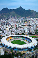 Rio de Janeiro, Brazil, October 2004. Maracana Stadium - the giant stadium that accommodates over 100,000 people and has been host to many championship games over the years, including the World Cup match of 1950 and Pele's last game. The bustling city of Rio de Janeiro has the famous beach of Copa Cabana as well as very poor people in favella's, slums.  Photo by Frits Meyst/Adventure4ever.com