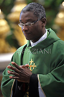 Haitian cardinal Chibly Langlois,Pope Francis  during  the mass New Cardinals in  St. Peter's Basilica at the Vatican on February 23, 2014