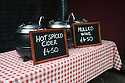 London, UK. 15.11.2014. Hot spiced cider and mulled wine on sale at Borough Market. Photograph © Jane Hobson.