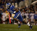Kentucky Wildcats defensive end Collins Ukwu (96) runs after the ball during the first half of the UK Football game v. Samford at Commonwealth Stadium in Lexington, Ky., on Saturday, November 17, 2012. Photo by Genevieve Adams | Staff