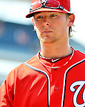 10 July 2011: Washington Nationals All-Star pitcher Tyler Clippard returns to the dugout after a game against the Colorado Rockies at Nationals Park in Washington, District of Columbia. The Nationals shut out the visiting Rockies 2-0 salvaging the last game their 3-game series at home prior to the All-Star break. Mandatory Credit: Ed Wolfstein Photo