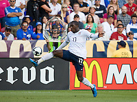 Jozy Altidore of the USA carries the ball against El Salvador during a World Cup Qualifying match at Rio Tinto Stadium, in Sandy, Utah, Friday, September 5, 2009.  .The USA won 2-1..