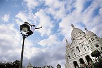 Tourists in Montmartre, Paris