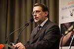 28.1.2013, Berlin, Jüdisches Gemeindehaus. Spendenveranstaltung der Initiative 27.Januar. Harald Eckert, 1. Vorsitzender der Initiative 27. Januar e.V.