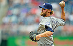 15 May 2012: San Diego Padres pitcher Andrew Cashner on the mound against the Washington Nationals at Nationals Park in Washington, DC. The Padres defeated the Nationals 6-1 to split their 2-game series. Mandatory Credit: Ed Wolfstein Photo