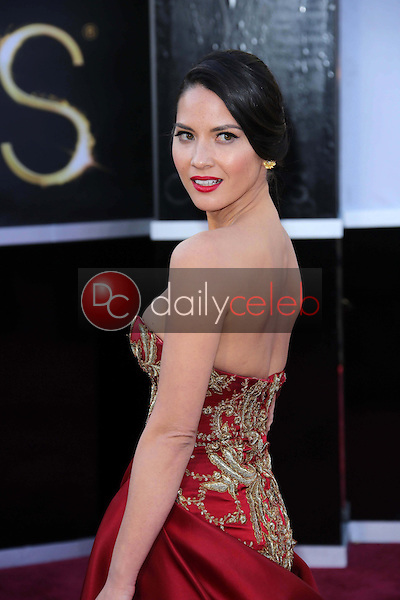 Olivia Munn<br /> at the 85th Annual Academy Awards Arrivals, Dolby Theater, Hollywood, CA 02-24-13<br /> David Edwards/DailyCeleb.com 818-249-4998