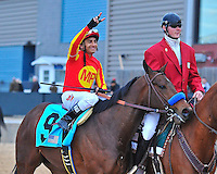 Rafael Bejarano completed the sweep in both divisions of the 47th Southwest Stakes at Oaklawn Park in Hot Springs Monday afternoon. Bejarano rode Castaway to victory in the first division and Secret Circle to victory in the second division. Both horses were trained by Bob Baffert.