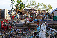 The damage caused by Typhoon Yolanda (Haiyan) is still clearly visible on Panagatan, Caluya.