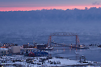 &quot;Aerial Lift Bridge with Steam Devils&quot;<br />