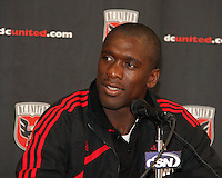 Clarence Seedorf #10 of A.C. Milan during apress conference after an international friendly match against D.C. United at RFK Stadium, on May 26 2010 in Washington United won 3-2.