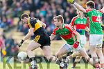 Daithí Casey Dr Crokes in Action against John McGrath Loughmore-Castleiney in the Munster Senior Club Semi-Final at Crokes Ground, Lewis Road on Sunday
