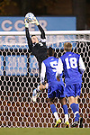 06 November 2012: Duke's James Belshaw (ENG) (31). The University of North Carolina Tar Heels defeated the Duke University Blue Devils 1-0 at Fetzer Field in Chapel Hill, North Carolina in a 2012 NCAA Division I Men's Soccer game. The game was an Atlantic Coast Conference quarterfinal match.