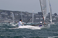Day 3 of racing. The JP Morgan Asset Management Finn Gold Cup 2012. Falmouth.Credit: Lloyd Images