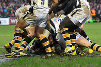 Amanaki Mafi of Bath Rugby scores a try on his home debut. Aviva Premiership match, between Bath Rugby and Wasps on February 20, 2016 at the Recreation Ground in Bath, England. Photo by: Patrick Khachfe / Onside Images