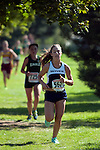 Skyview junior Jocelyn Barber during the second loop of the Roger Curran Invitational girl's varsity race at West Park in Nampa, Idaho on September 8, 2012. Jocelyn finished fifth in the 4A-5A division with a time of 20:23.78.