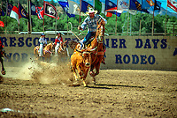 Rodeo event ; Steer wrestling